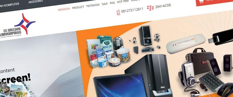 Jasa Pembuatan Website Bandung Murah  Jasa pembuatan website murah Bandung Toko Online Store cv-idris