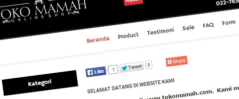 Jasa Pembuatan Website Bandung Murah  Jasa pembuatan website murah Bandung Toko Online Toko mamah