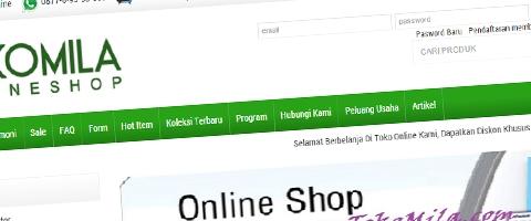 Jasa Pembuatan Website Bandung Murah  Jasa pembuatan website murah Bandung Toko Online Toko Mila