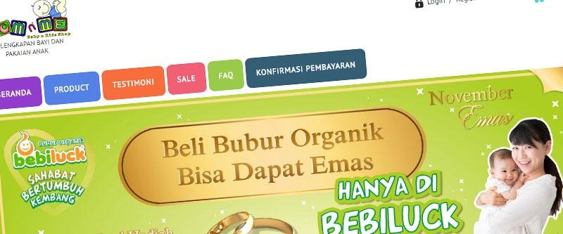 Jasa Pembuatan Website Bandung Murah  Jasa pembuatan website murah Bandung Toko Online Toko Mom N Me