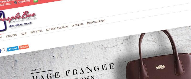 Jasa Pembuatan Website Bandung Murah  Jasa pembuatan website murah Bandung Toko Online Treeplebee