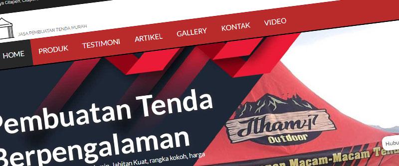 Jasa Pembuatan Website Bandung Murah vendortenda47.com Jasa pembuatan website murah Bandung Company Profile vendortenda47.com